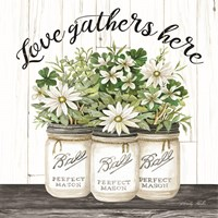 White Jars - Love Gathers Here Fine Art Print