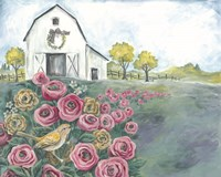 Pink Flower Field Fine Art Print