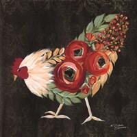Botanical Rooster Framed Print