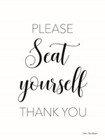 Please Seat Yourself Fine Art Print