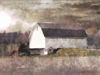 Rustic White Barn Scene I Fine Art Print