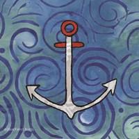 Whimsy Coastal Anchor Fine Art Print