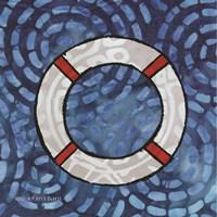 Whimsy Coastal Ring Buoy Fine Art Print