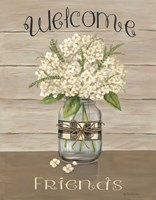 Welcome Friends Mason Jar Fine Art Print