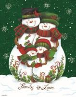 Snow Family II Fine Art Print