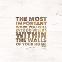 Within the Walls of Your Home Fine Art Print