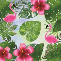 Tropical Life Flamingo I Fine Art Print