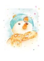 Snowman and Robin Fine Art Print