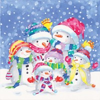 Snow Family III Fine Art Print