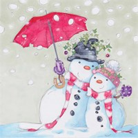 Snow Couple Fine Art Print