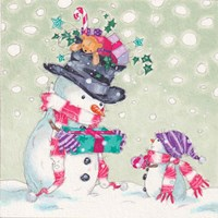 Snowman and Gifts II Fine Art Print