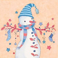 Snowman and Stockings Fine Art Print