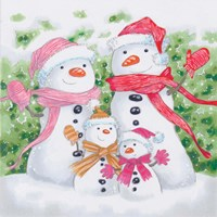 Snow Family V Fine Art Print