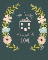 Our Family is a Circle of Love Fine Art Print