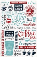 Coffee Collage Fine Art Print