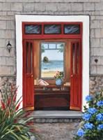 Beach House Entry Fine Art Print