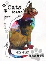 Cats Leave Pawprints Fine Art Print