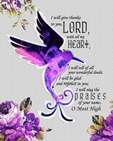 Hummingbird Scripture Fine Art Print