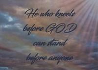 He Who Kneels Fine Art Print