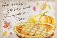 Autumn Skies and Pumpkin Pies Fine Art Print