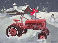 Old Tractor and Barn Fine Art Print