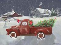 Old Truck and House II Fine Art Print