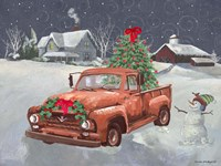 Old Truck and House Fine Art Print