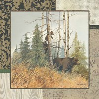 Brown Bears with Border Fine Art Print