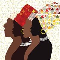 African Men and Women II Fine Art Print