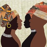 African Men and Women III Fine Art Print