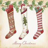 Merry Christmas Stockings Fine Art Print