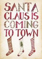 Santa Claus is Coming to Town Fine Art Print