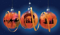 Nativity Ornaments Fine Art Print