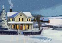 Holiday House II Fine Art Print