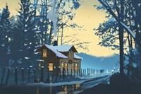Holiday House III Fine Art Print