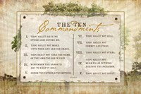 10 Commandments Fine Art Print