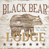 Black Bear Lodge Fine Art Print