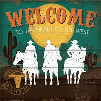 Welcome to the Heart of the West Fine Art Print