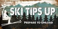 Ski Tips Up Fine Art Print