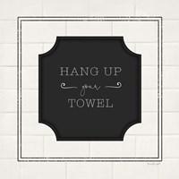 Hang Up Your Towel Framed Print