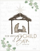 For Unto Us a Child is Born Fine Art Print