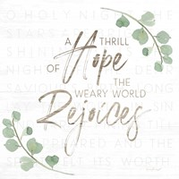 A Thrill of Hope Fine Art Print