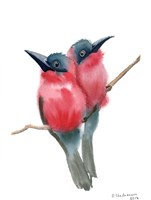 Red Bird Buddies Fine Art Print
