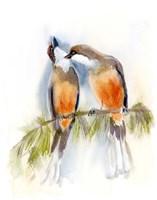 Birds on a Branch Fine Art Print