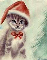 Cat in Hat Fine Art Print