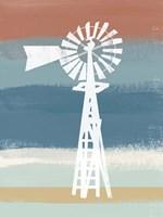 Windmill on Stripes Fine Art Print