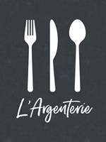 French Silverware Fine Art Print