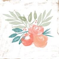 Coral Rose Bouquet II Fine Art Print