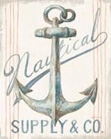 Floursack Nautical V Framed Print
