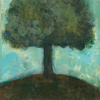 Under the Tree Square II Fine Art Print